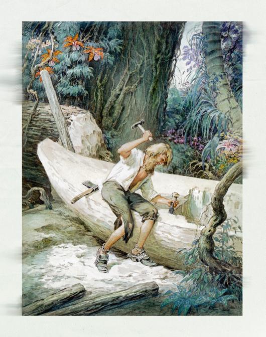 Жизнь и удивительные приключения морехода Робинзона Крузо. Иллюстрации И. Ильинского