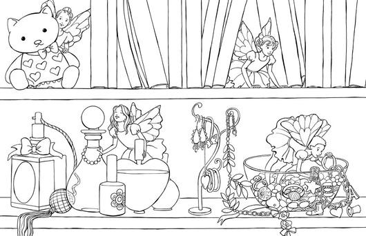 Сказочные феи: раскраска